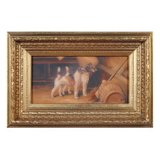 Stable Terriers Oil Painting