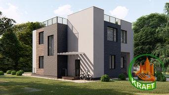 Проект дома с плоской крышей