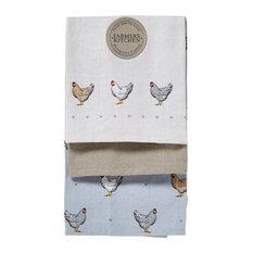 Cooksmart 3-Pack Tea Towels, Farmers Kitchen