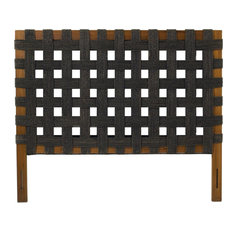PADMAS PLANTATION Headboard Contemporary Twin Dark Stained Brown Sea