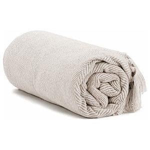 Americanflat Omala Cloud Grey and White Mini Diamond Cotton Blanket Throw