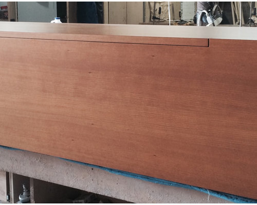 Custom cherry wood wall mounted buffet /sideboard (After Completion) - Products