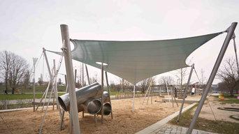 Sonnensegel für Park- und Ferienanlagen