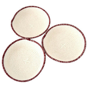 Small Cotton Rope Bowls, Set of 3