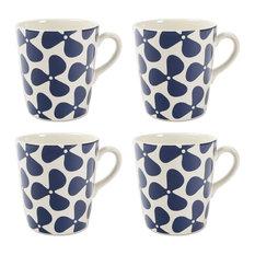 Helice Mugs, Navy, Set of 4