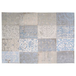 Cameo Kopie Gustavian Blue 8237 Rectangle Modern Rug 140x200cm