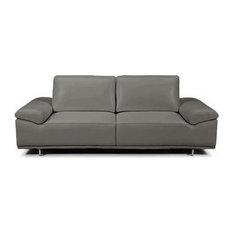 Roxanne Loveseat, Dark Gray, Adjustable Back and Arm Cushions