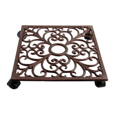 Plant Trolley - Square Cast Iron w/ Hole for Display