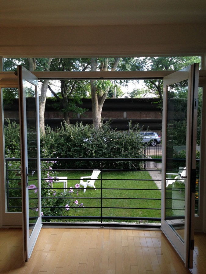 Urban Single-Family Home: French Doors to Garden
