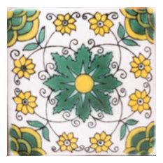"4""x4"" Mexican Ceramic Handmade Tile #C100"