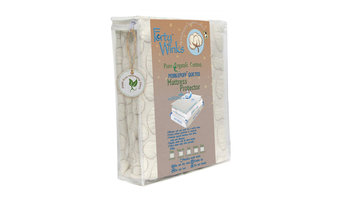 Pebble-Puff Organic Cotton Mattress Protector