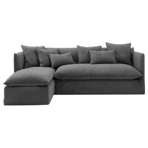 Sophie Chaise Sofa Bed, Storm, 1.5 Seater, Left Hand Facing, 113x186 cm