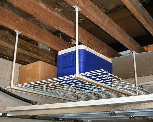 Garage Ceiling Storage   Overhead Storage Rack By Garageflex   Garage And  Tool Storage