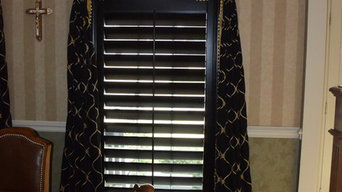 Graber Black Wood Plantation Shutters