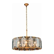 Elegant Lighting Monaco 8-Light Crystal Chandelier, Golden Iron