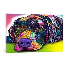 """Savvy Labrador"" Wrapped Canvas Art Print, 60x40x1.5"