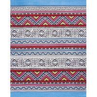 Africana USA Fiber Reactive Print Terry Velour Beach Towel