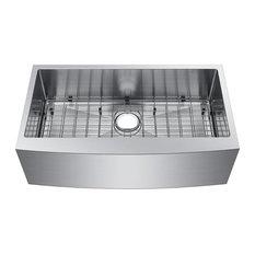 "30"" Farmhouse Apron Single Bowl 304 16 Gauge Kitchen Sink With Grids"