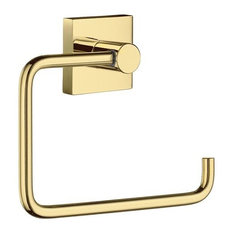 House - Toilet Roll Holder, Polished Brass Laqured
