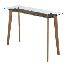 Midcentury. Clear All · Convenience Concepts   Clearview Console Table,  Natural/Glass   Console Tables