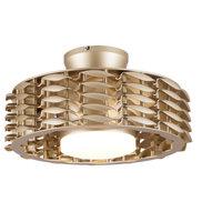 Oceano Bladeless Ceiling Fan, 6 Speeds with LED Light - 23 Inch, Gold