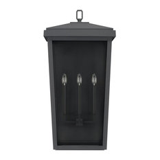 Capital Lighting Donnelly 3-Light Outdoor Wall Lantern 926231BK, Black
