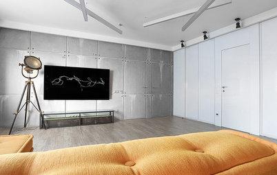 Houzz тур: Квартира с бетонным декором и цифровым кодом