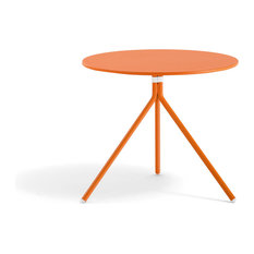 Modern outdoor coffee tables houzz for Orange outdoor side table