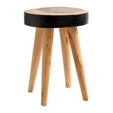 Organic Stool, Brown and Black