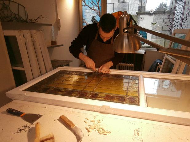 Portrait d\'artisan : Pascal Rieu, artisan du vitrail