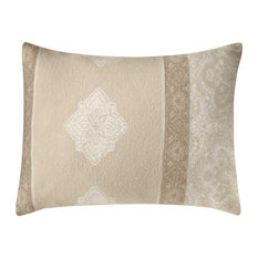 Boiled Wool Toile Pillow A TOILE2, Cream