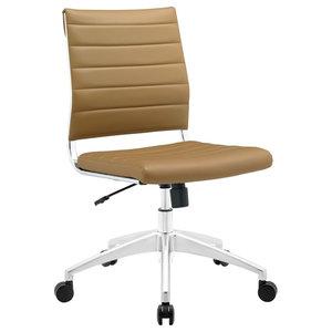 Jive Armless Mid Back Office Chair, Tan