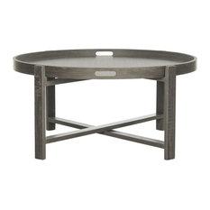 Cursten Retro Mid-Century Wood Tray Top Coffee Table