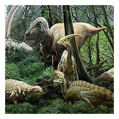 Dinosaur Jurassic Jungle Prepasted Wall Accent Mural