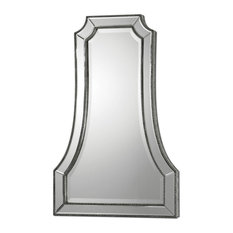 Uttermost 8077 Cattaneo Cathedral Style Arched Wall Mirror - Antique Silver