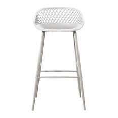 Piazza Outdoor Barstool White, Set of 2
