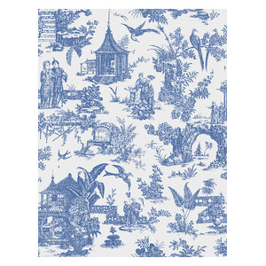 Sage Blue Toile Wallpaper Asian Wallpaper By