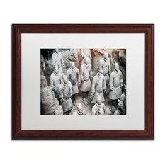 "Philippe Hugonnard 'Terracotta III' Art, Wood Frame, White Matte, 20""x16"""