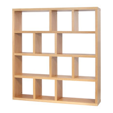 Berlin 4 Levels Bookcase, 150 cm., Oak