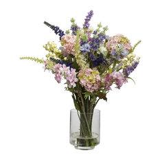 Lavender and Hydrangea Silk Flower Arrangement