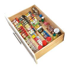 "Rev-A-Shelf - Wood Spice Drawer Insert, Natural, 22"" - Kitchen Drawer Organizers"