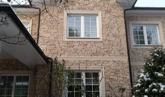 Барвиха. Облицовка дома кладочным камнем и архитектурными элементами
