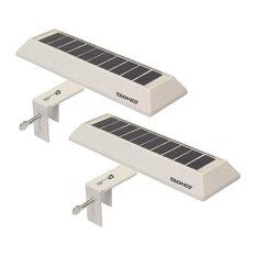 Solar LED Gutter/Fence Light - 2 Pack