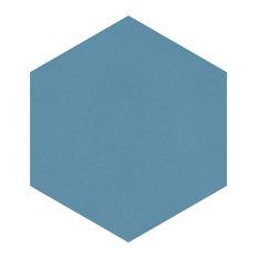 "SomerTile 8.63""x9.88"" Textilis Basic Hex Porcelain Floor and Wall Tile, Niagara"