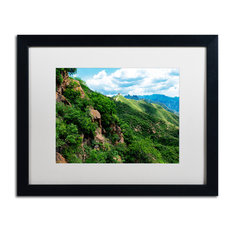 "Philippe Hugonnard 'Great Wall XV' Art, Black Frame, White Matte, 20""x16"""