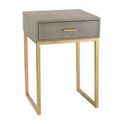 Shagreen Side Table, Gray