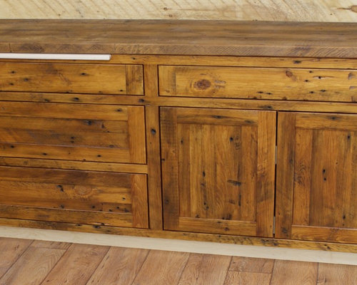 Reclaimed white pine kitchen cabinets for Pine kitchen furniture