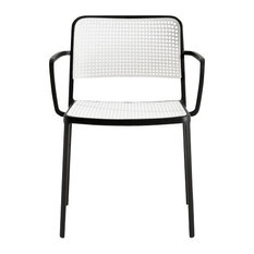 Kartell Audrey Arm Chair, Black/White, Set of 2