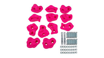 Large Textured Rock Holds, Pink
