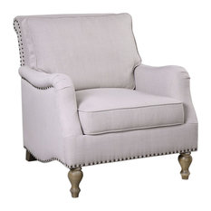Uttermost - Armstead Antique White Armchair - Armchairs and Accent Chairs